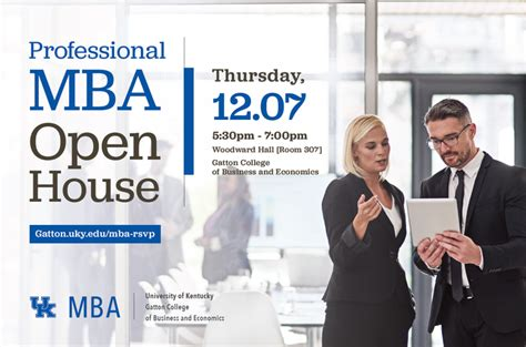 Uky Mba by Uk S Gatton College To Host Professional Mba Open House