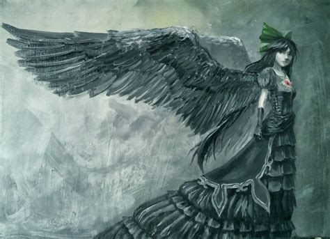 gothic angel wings pictures to pin on pinterest pinsdaddy