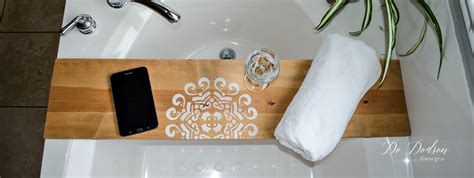 bathtub wood caddy insanely easy way to make a bathtub caddy tray do dodson