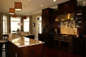 Dark Kitchen Cabinets With Light Granite Countertops by Creative Kitchen Dark Cabinets Light Granite For Solid