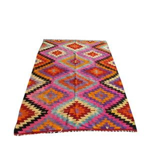 Pink And Turquoise Rug by Bright Pink And Turquoise Kilim Rug 975 Ethnic Homeware