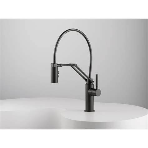 articulating kitchen faucet faucet com 63221lf ss in brilliance stainless by brizo