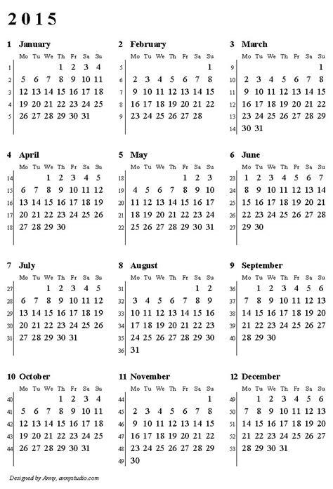 printable calendar 2017 with week numbers weekly number calendar 2015 weekly calendar template