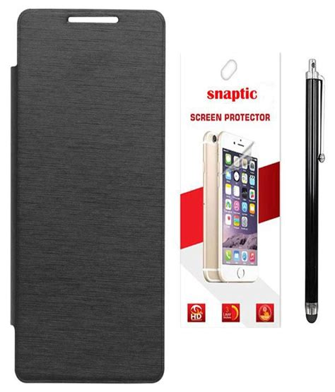 Flip Cover Lenovo A1000 snaptic flip cover for lenovo a1000 with screen guard stylus black buy snaptic flip