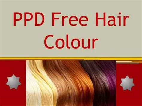 ppd free hair color hair dye ppd free