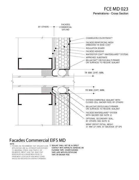 eifs wall section moisture drainage air ventilation eifs details