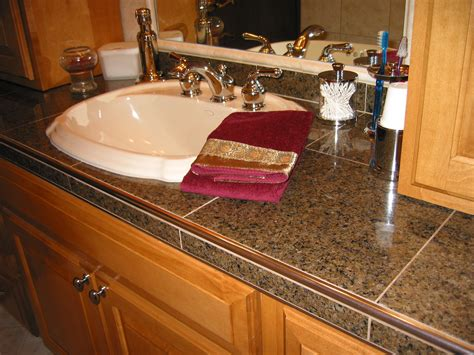 bathroom countertop tile ideas schluter edge for tile countertops this jury is still