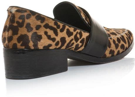 leopard skin loafers 3 1 phillip lim quinn leopard pony skin loafers in animal