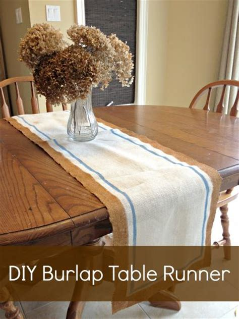 decoart crafts easy diy burlap table runner