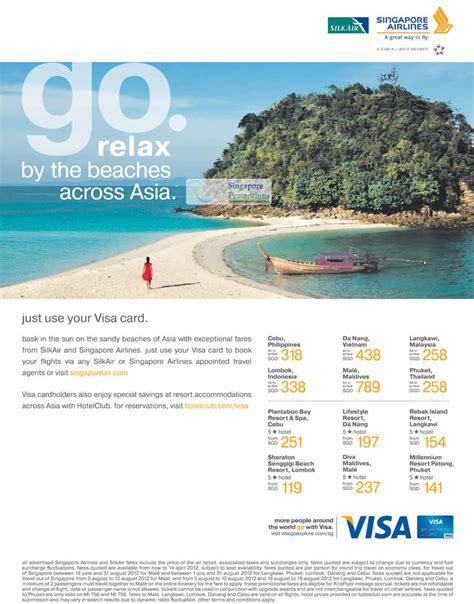 Singapore Airlines 2012 Desk Calendar Table Sia Ebay by Visa Singapore Airlines Silkair Special Air Fares