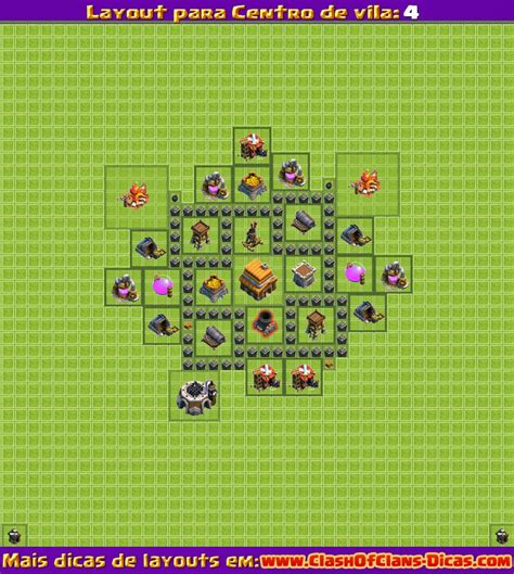 Layout Cv Nivel 4 Clash Of Clans | melhores layouts para clash of clans centro de vila n 237 vel