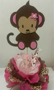 baby monkey centerpieces s creations baby shower theme centerpieces