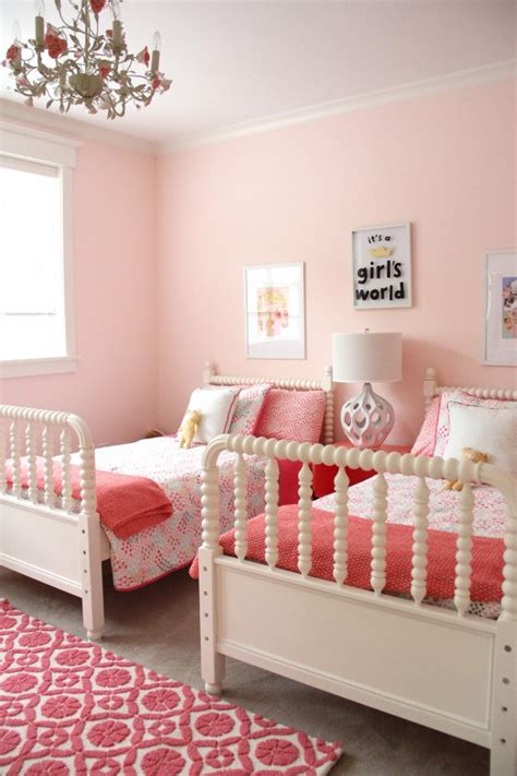 how to decorate a little girl bedroom for cheap monday makeover shared little girls room
