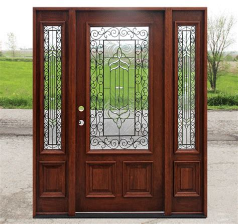 Opening Front Doors Craftsman Style Doors And Sidelights