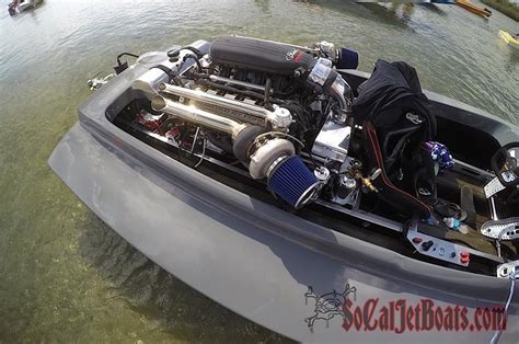 twin turbocharged 5 0 liter coyote v8 powered jet boat - Mini Jet Boat With V8