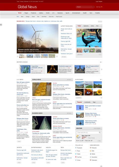 Best Premium Html News Website Templates Html Template For News Website