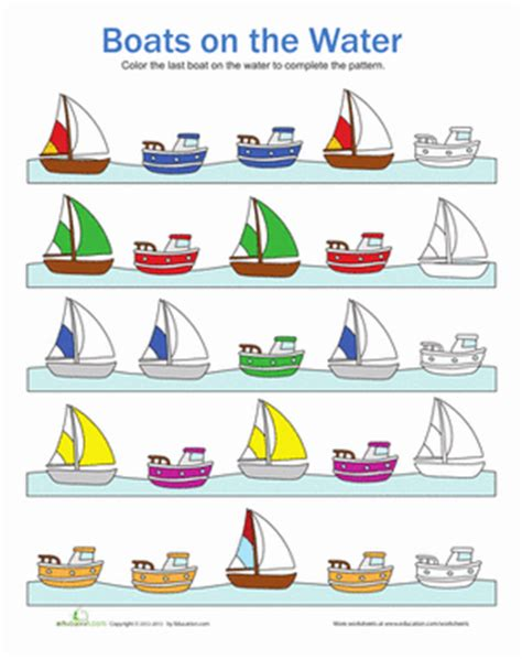 types of boats with 8 letters boat patterns worksheet education