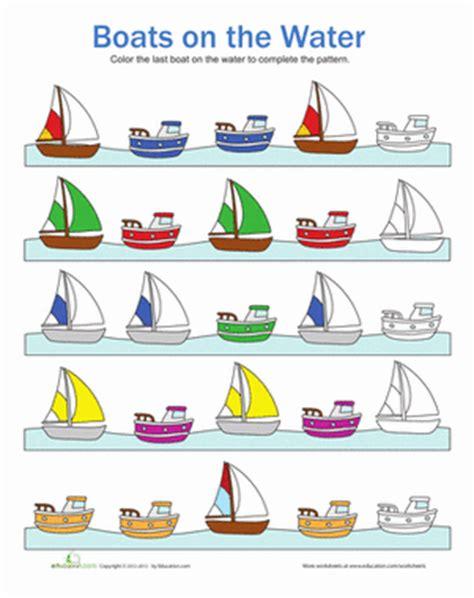 boat bed patterns boat patterns worksheet education