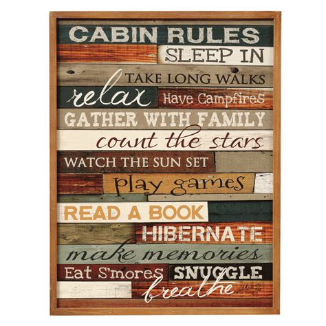 Wood Signs For Cabins by Cabin Wood Sign