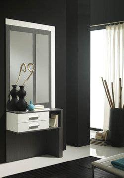 Meja Rias Salon meuble d entr 233 e moderne miroir pacxi coloris blanc et