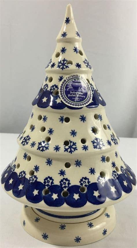 boleslawiec polish pottery christmas tree stars snowflake