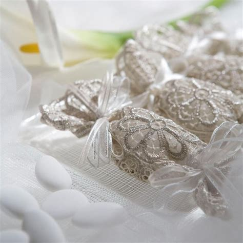 Wedding Favors Almonds by Fancy Wedding Favors Italian Lace Doily Wraps Five