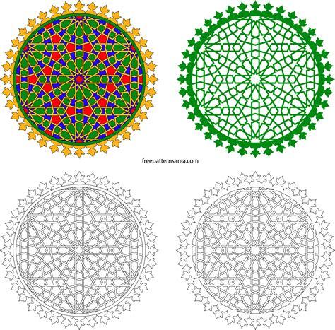 islamic pattern autocad free geometric decorative islamic art ornament vector design