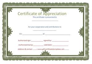 free templates for certificate of appreciation certificates of appreciation free certificate templates