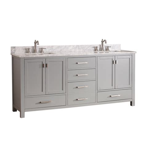 avanity modero 72 quot bathroom vanity chilled gray