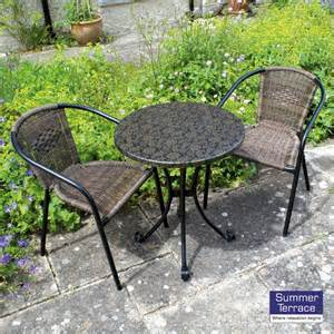 Bistro Patio Chairs Europa Fleuretta Bistro Set With San Remo Chairs