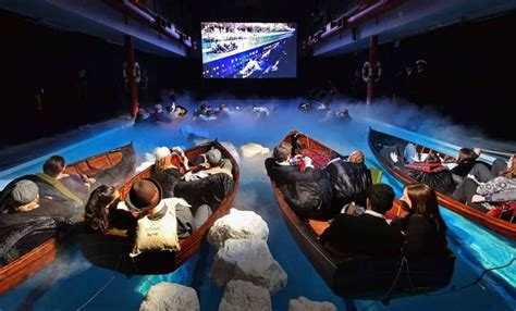 Home Theater Is A Titanic Replica by Hd Experience To Titanic In Lifeboats