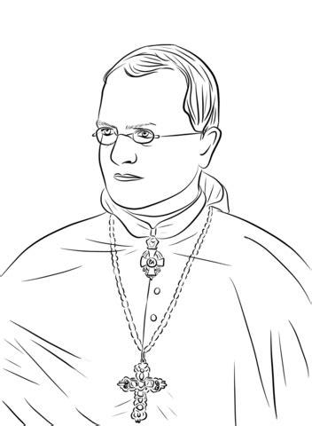 Dibujo de Gregor Mendel para colorear | Dibujos para