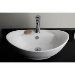 counter bathroom sink american imaginations above counter oval vessel bathroom