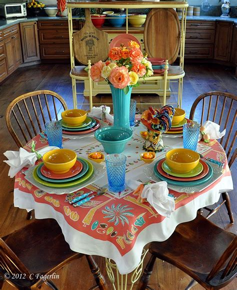 ware table setting home decor diy vintage table