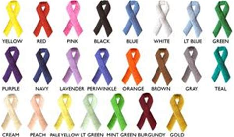 what do the colored ribbons stand for embroidered awareness ribbon appliques