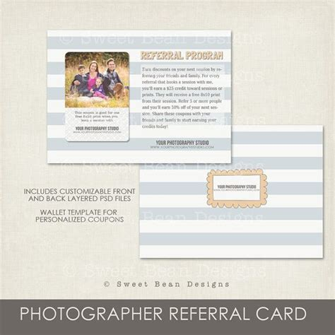 photography referral card template pictures to pin on