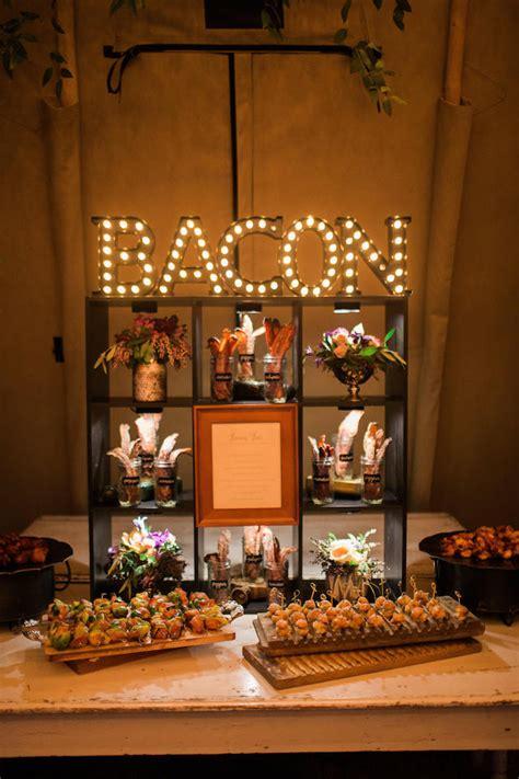 wedding bacon bar burnetts boards wedding inspiration