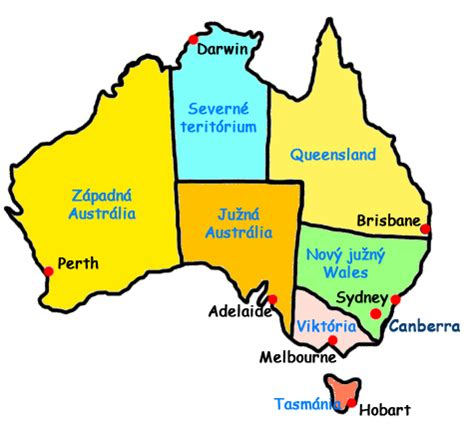 map australian states map of australia with states and capitals