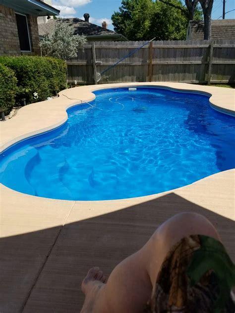 concrete pool coping bricks   fiberglass pool bad