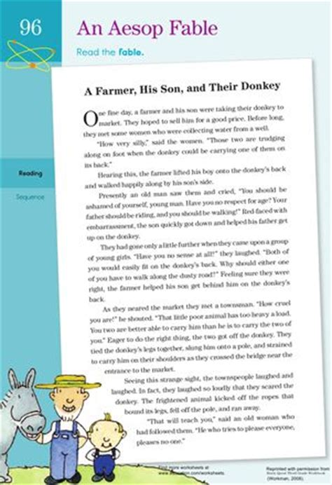Aesop S Fables Worksheets by The World S Catalog Of Ideas