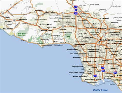 california map and south description of bike rides in los angeles county