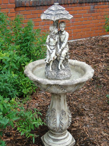 solar powered backyard fountains solar water fountain umbrella boy and girl outdoor patio