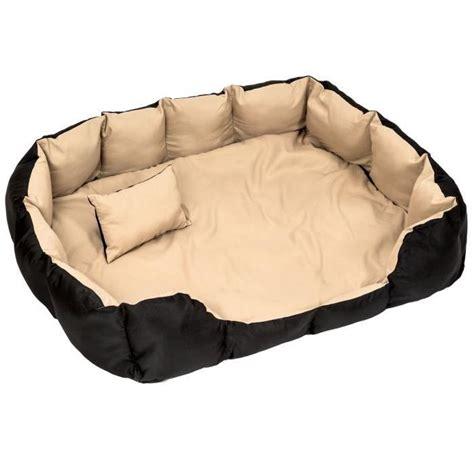 coussin pour chiens coussin pour chien lit pour chien panier pour chien douillet noir beige taille tectake