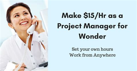 make 15 hr as a project manager for real work