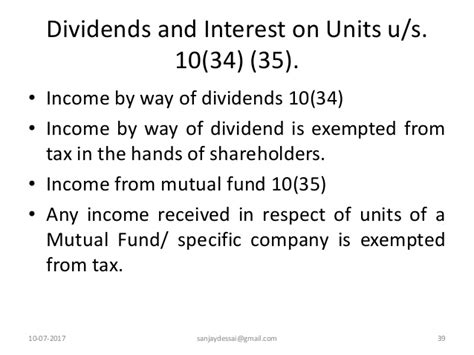 section 35 of income tax act income exempted under section 10 of income tax act 1961