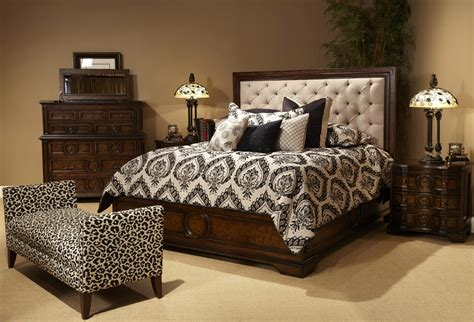 king bed set cera king 5 pc bedroom set w fabric tufted headboard w 2 stands ebay