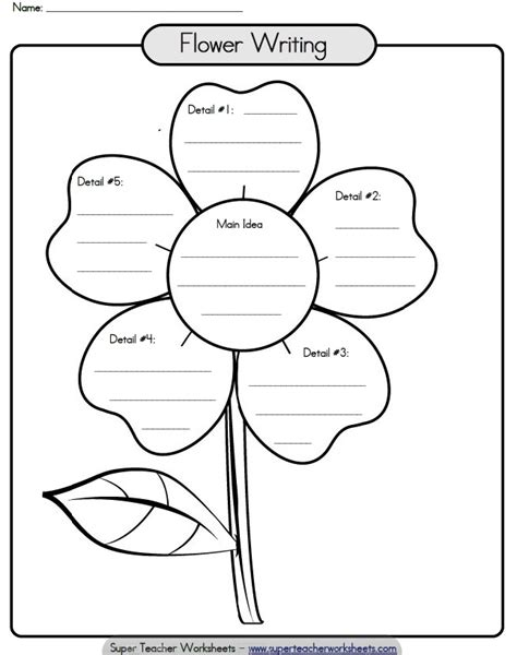 printable homework graphic organizer check out this paragraph writing flower to help your