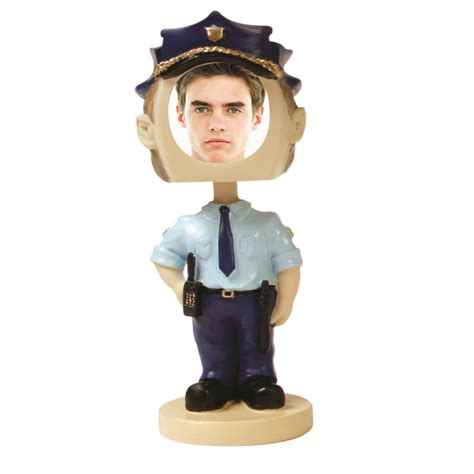 bobblehead picture frame bobbleheads policeman sports photos novelty picture frames