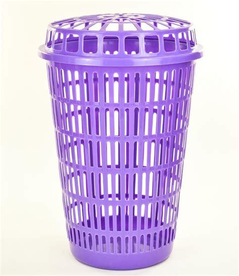 Circular Plastic Laundry Linen Basket Bin Storage Her Plastic Laundry