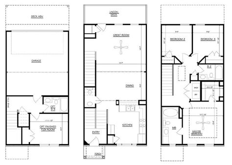 town home plans zspmed of townhome floor plans